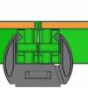 Замок клиновой используется в системе опалубки для быстрого торцевого соединения щитов при помощи строительного молотка